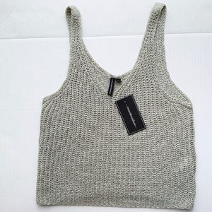 Moon & Madison Knit Cropped Tank Top size L